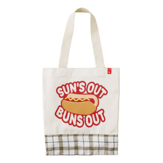 Suns Out Buns Out Zazzle HEART Tote Bag