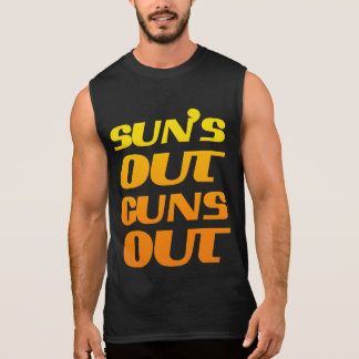 Suns Out Guns Out Fitness and Gym Sleeveless Shirt