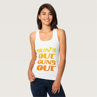 SUN'S OUT GUNS OUT FITNESS AND GYM T SHIRT