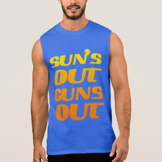 SUN'S OUT GUNS OUT FITNESS AND GYM SLEEVELESS SHIRTS
