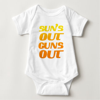 Sun's Out Guns Out Fun fitness and gym Infant Creeper