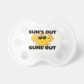 Sun's Out Guns Out Baby Pacifiers