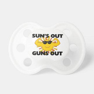 Sun's Out Guns Out Pacifier