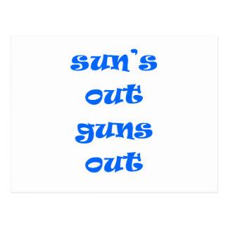 Sun's Out Guns Out! Postcard
