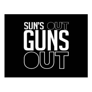 Sun's out Guns out Postcard