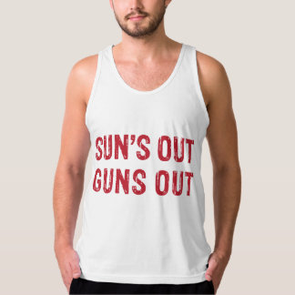 Suns Out Guns Out Red Tank Top