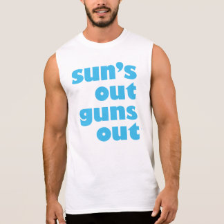 Sun's Out Guns Out sleeveless men's shirt