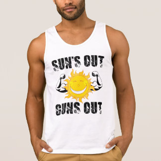 Suns Out Guns Out Summer beach Tank Top