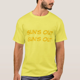 """Sun's Out Guns Out"" t-shirt"