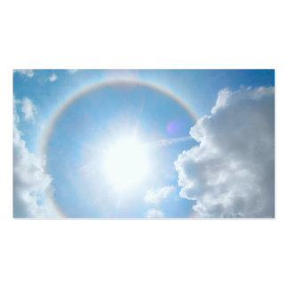 Sun's Rainbow Halo Double-Sided Standard Business Cards (Pack Of 100)