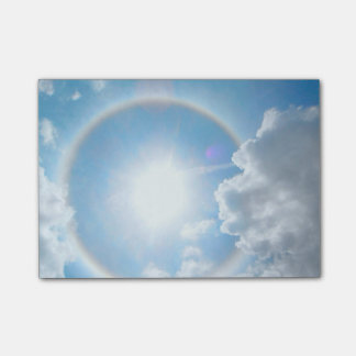 Sun's Rainbow Halo Post-it Notes