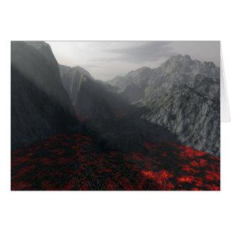 sun's rays thru volcanic haze card
