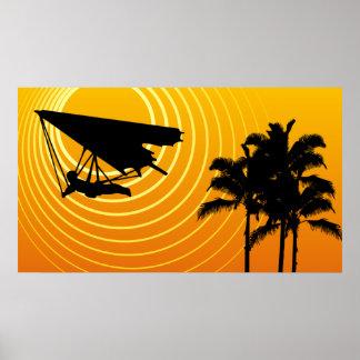 sunscene hang gliding poster