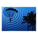 sunscene skydiving invitación 8,9 x 12,7 cm