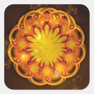Sunscope Kaleidoscope Square Stickers