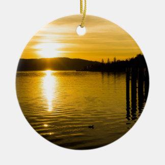 sunset-141 ceramic ornament