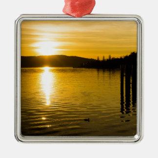 sunset-141 metal ornament