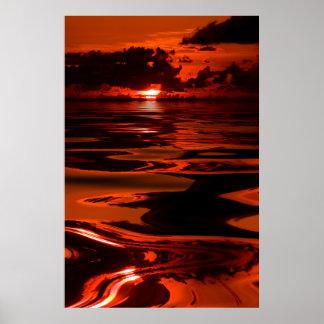 Sunset-14-Oil-Spill Print