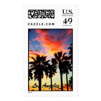 sunset-1, Los Angeles Postage Stamp