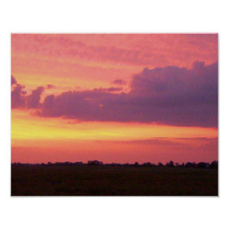 Sunset, 2004 Photo by Mark Edward Westerfield. Poster