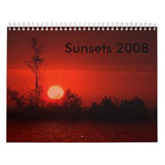 Sunset 2008 Calendar
