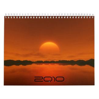 Sunset 2010 calendars