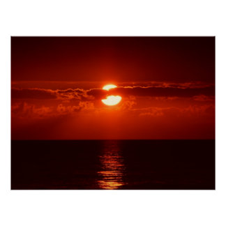 sunset-205717 sunset, cloud, clouds, sky, red, clo poster
