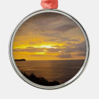 Sunset 2 Costa Rica Metal Ornament