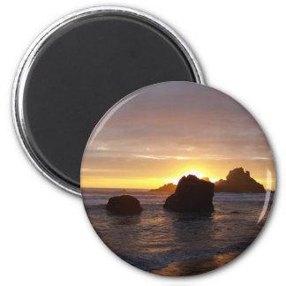 Sunset 2 Inch Round Magnet
