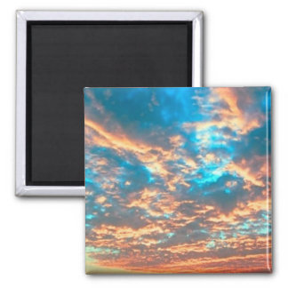 Sunset 2 Inch Square Magnet