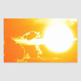 sunset 3 rectangular sticker