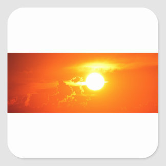 sunset 3 square sticker