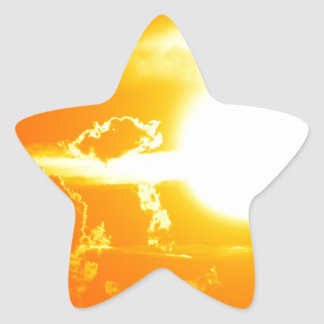 sunset 3 star sticker