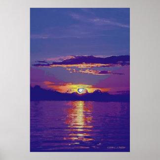 'Sunset 3A' Poster