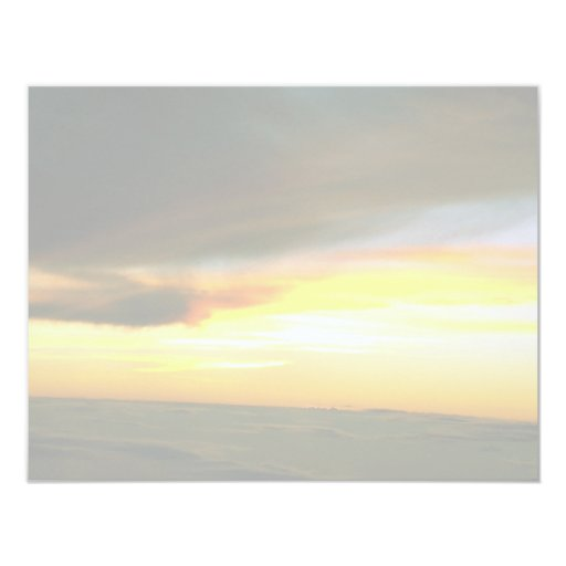 Sunset 4.25x5.5 Paper Invitation Card