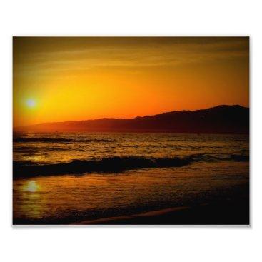 Beach Themed Sunset 8x10 Photo Print