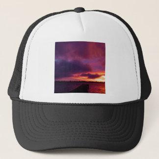 Sunset Abandoned Nighttime Trucker Hat