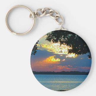 Sunset Ablaze Basic Round Button Keychain