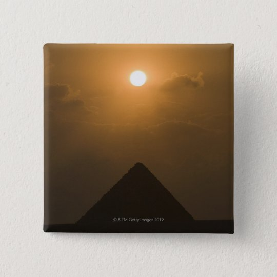 Sunset above The Great Pyramid Pinback Button
