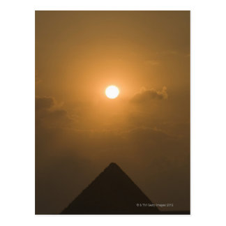 Sunset above The Great Pyramid Postcard