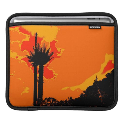 Sunset Abstract Art Sleeves For iPads