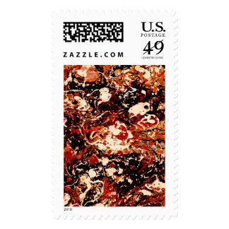 SUNSET (abstract art) ~.jpg Postage