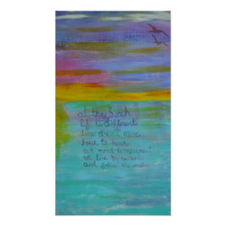 Sunset Abstract Beach Poster