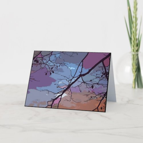 Sunset Abstract Birthday Card