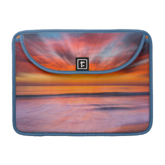 Sunset abstract from Tamarack Beach Sleeve For MacBooks