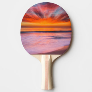 Sunset abstract from Tamarack Beach Ping Pong Paddle