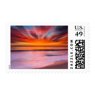 Sunset abstract from Tamarack Beach Postage Stamp
