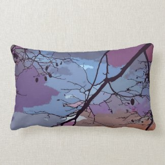 Sunset Abstract Lumbar Pillow
