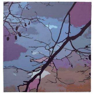 Sunset Abstract Napkins