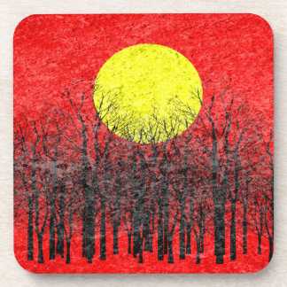Sunset | Abstract Painting 10 Beverage Coaster